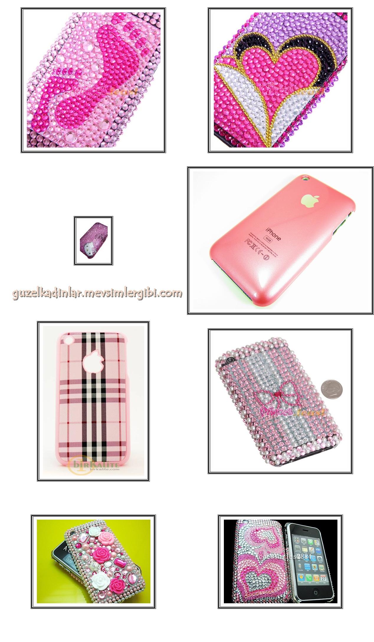 pembe apple iphone kapakları kılıfları pembe cep telefonu aksesuarları pembe eşyalar