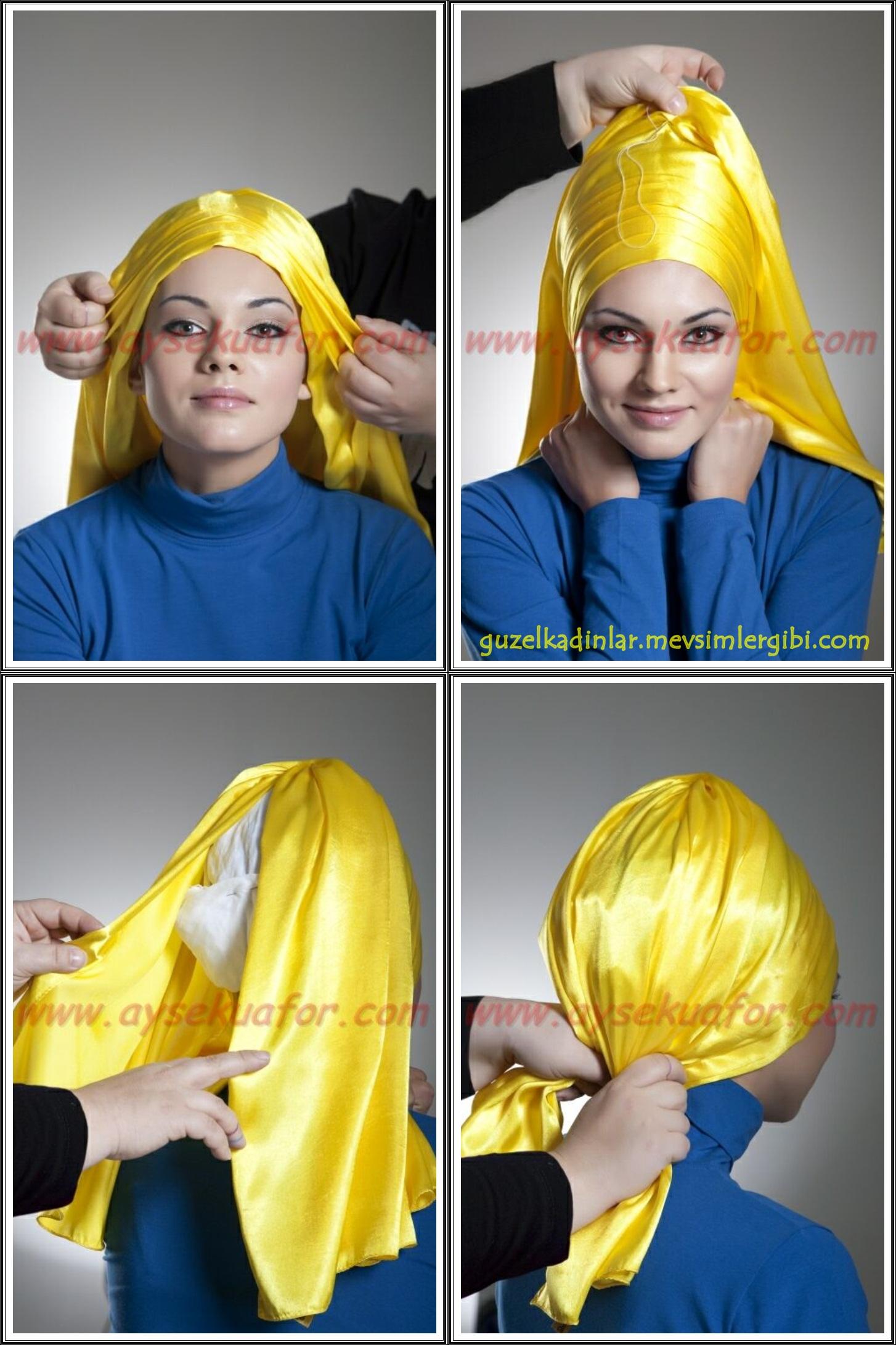 başörtüsü türban eşarp hijab hicab styles stilleri modelleri bağlama teknikleri nasıl yapılır