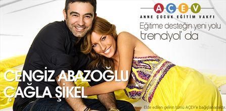 Cengiz Abazoğlu & Çağla Şikel Trendyol Alışveriş Sitesinde AÇEV Hayrına Özel Eşyalarını Satıyor