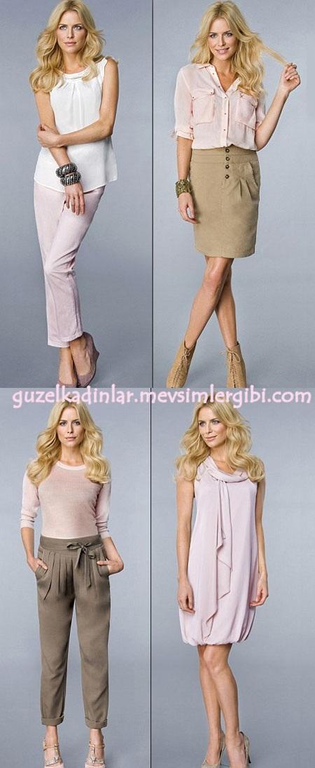 Pembe Giyim Kıyafetleri (Elbise Bluz Etek Pantolon Gömlek Kazak Ceket Modelleri)