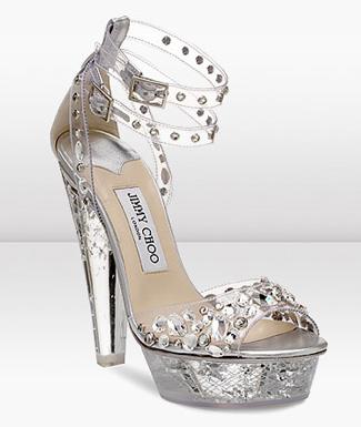 Jimmy Choo kristal ayakkabı
