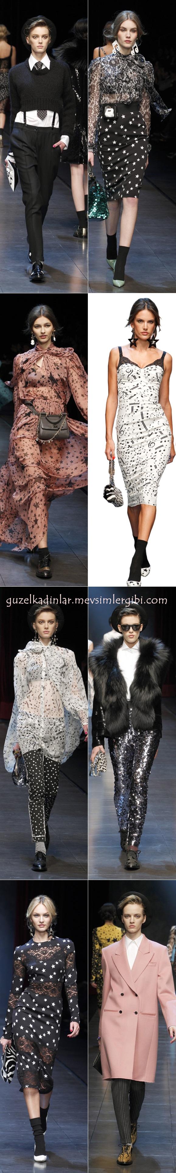 Dolce Gabbana 2012-2013 Kış Koleksiyonu moda şov