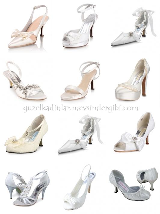 gelin ayakkabısı 2011