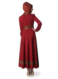 bordo elbise modası