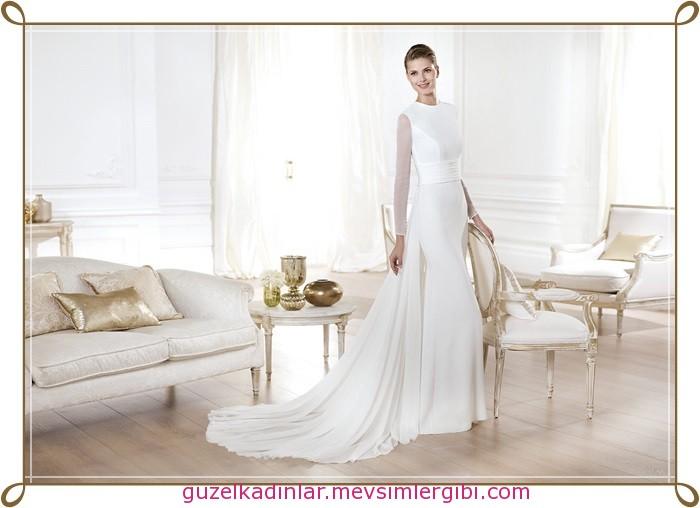 en güzel gelinlik modelleri YELICE_A pronovias 2014 koleksiyonu