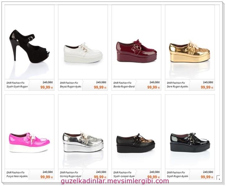 bu yılın modası ayakkabılar ve fiyatları 012
