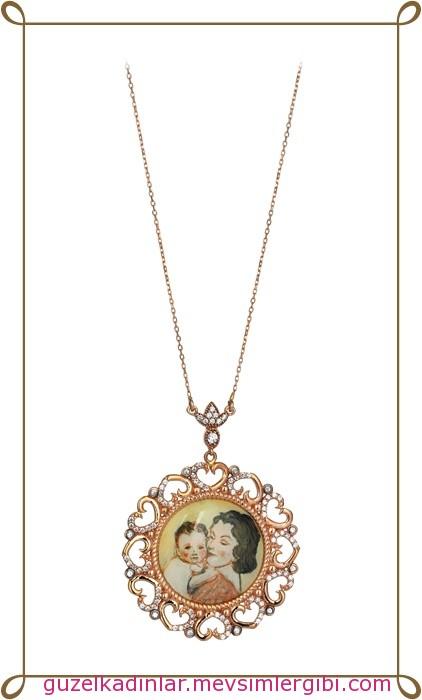 jival anneler günü altın takı kolye modelleri koleksiyonu 003 anneme ne alsam