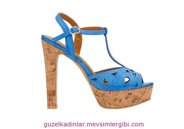 lazer kesim havacı mavi topuklu ayakkabı fiyatı 80 lira