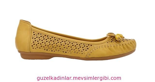 lazer kesim sarı ayakkabı babet fiyatı 45 lira