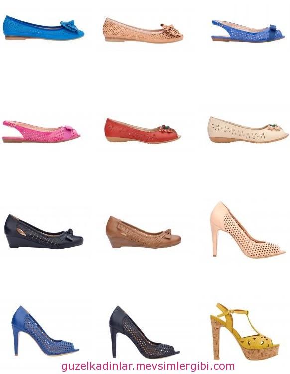 shoes trends spring summer 2014 FLO lazer kesim ayakkabı modelleri ve fiyatları