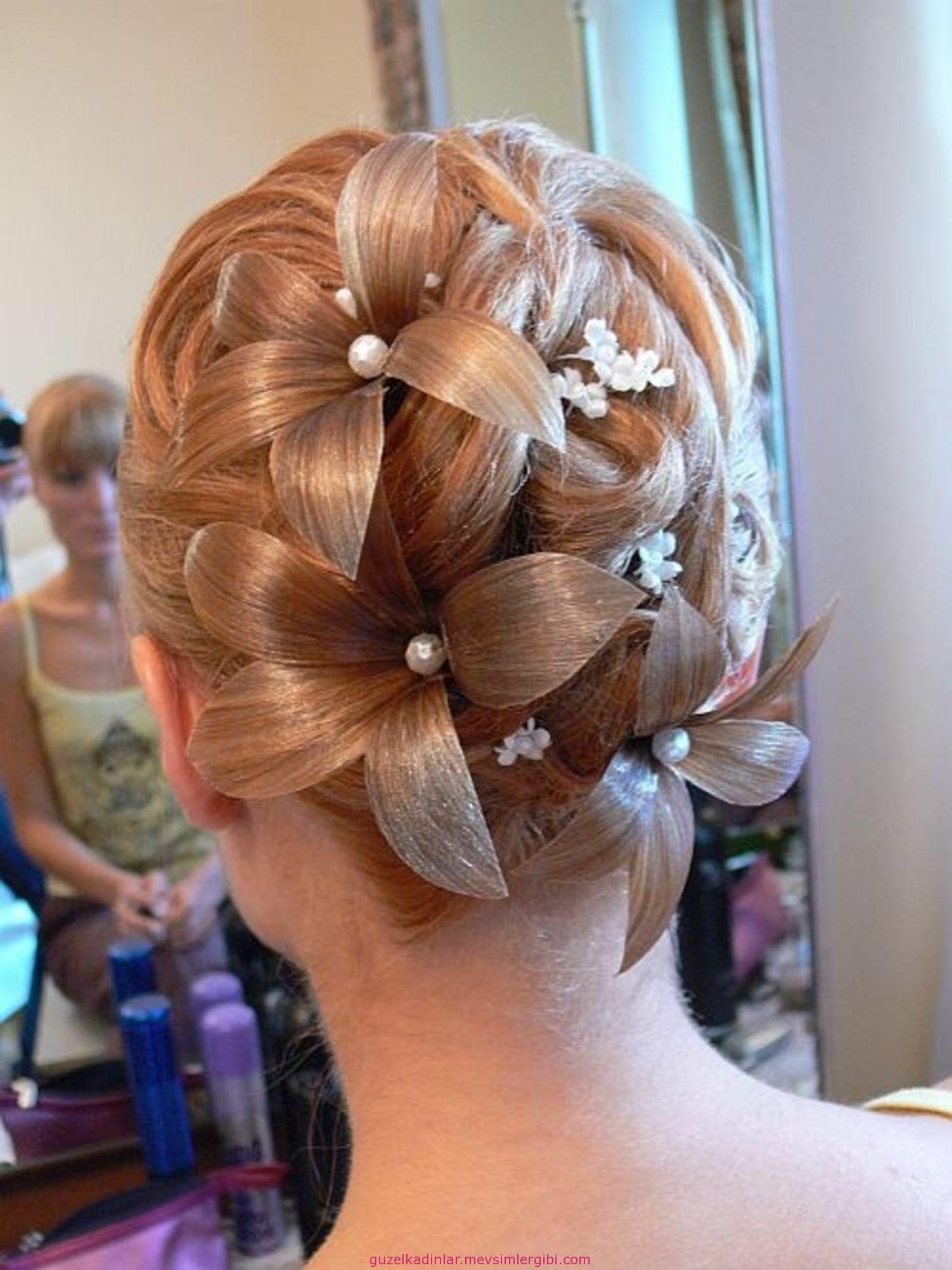 kır düğünü için gelin saçı modelleri