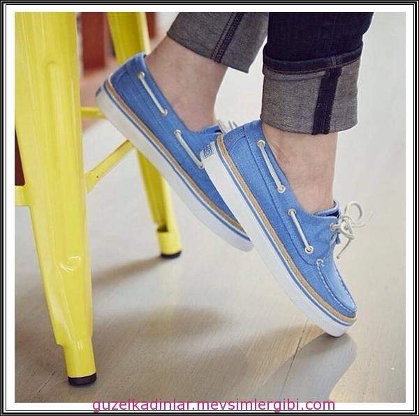 havacı mavi kolej tipi ayakkabı