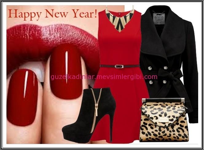 Kısa Kırmızı Elbise Kombinim