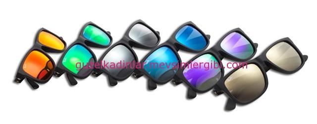 renkli camlı rayban güneş gözlükleri 2015