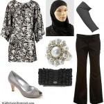 tesettürlü kombinler tesettüre uygun kıyafetler tesettür giyim gri siyah hijab türban modelleri stilleri 2010 2011 tesettür modası kombin resimleri
