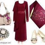 tesettürlü kombinler tesettüre uygun kıyafetler tesettür giyim hijab türban modelleri bordo stilleri 2010 2011 abaya tesettür modası kombin resimleri