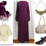 tesettürlü kombinler tesettüre uygun kıyafetler tesettür giyim hijab türban mor bordo modelleri stilleri 2009 2010 2011 tesettür modası kombin resimleri