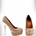 Aşkı Memnu Bihter Peyker Ayakkabıları metal topuk platformlu Sertaç Delibaş Bayan Ayakkabı Tasarımları