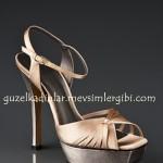 J.Lo Şampanya rengi nude renkte yüksek topuklu Ayakkabılar
