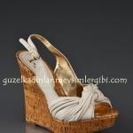 J.Lo krem dolgu topuklu ayakkabı