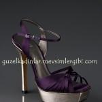 J.Lo Mor yüksek metal topuklu Ayakkabıları