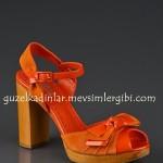 Jennfier Lopez Turuncu Ayakkabı