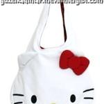 hello kitty büyük beyaz hello kitty kafalı cici kol çantası