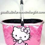 hello kitty parlak pembe rugan el çantası