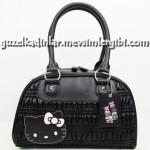 hello kitty siyah el çantası