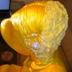 sarı türban modeli türban bağlama modelleri
