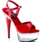 şeffaf topuklu ayakkabılar