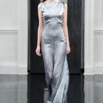 Victoria Beckham 2011 koleksiyonu simli lame gümüş rengi elbise modelleri
